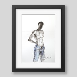 """Blue jeans"" graphic/print"