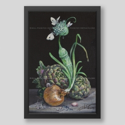 """Still life with sprouted..."