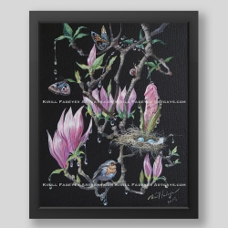 """Magnolia juice"" print"