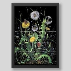 """Dandelions"" print"