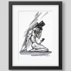 """""""Two gentlemen"""" print"""