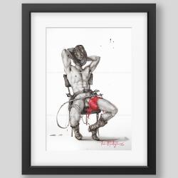 """Cowboy"" painting / print"
