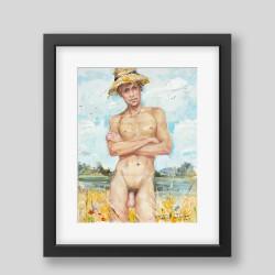 """Huckleberry Finn"" print"