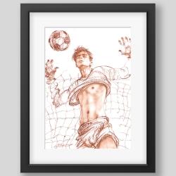 """Goalkeeper"" graphic/print"