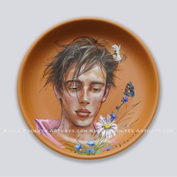 """Plate 39 """"Two flowers"""""""