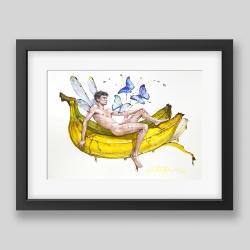 """Banana nectar"" painting/print"