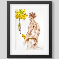 """Ripe banana"" painting/print"