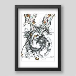 """Cocoon liberation"" print"