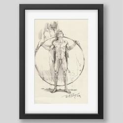 """Wheel of life"" print"